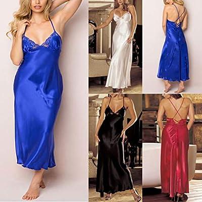 TWGONE Women Sexy Lingerie Lace Babydoll Underwear Satin Lace Long Gown