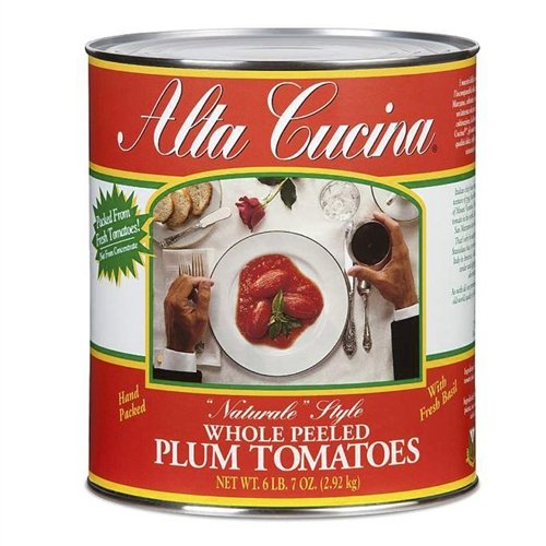 (Alta Cucina Whole Plum Tomatoes #10, Pack of 6)
