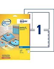 Avery 25 Jaquettes pour CD - 151x118mm - Impression Jet d'Encre (J8435)