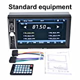 Kangnice 7″ Double 2DIN Bluetooth Touch Car Stereo Audio MP3 Player FM Radio USB AUX MP5