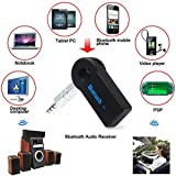 Universal Bluetooth Transmitter Car Kit Handsfree 3.5mm Streaming Car A2DP Wireless AUX Audio Music Receiver Adapter with Microphone for iPhone iOS Android Cell Phones