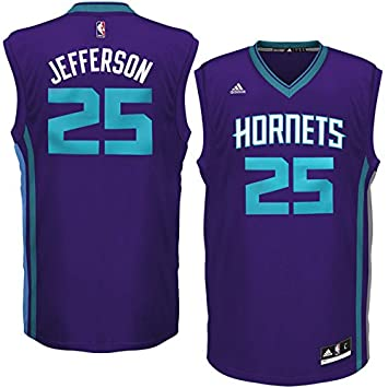 adidas Charlotte Hornets NBA Replica Basketball Jersey - Jefferson  25 -  Mens Large  Amazon.co.uk  Sports   Outdoors c701e31ab