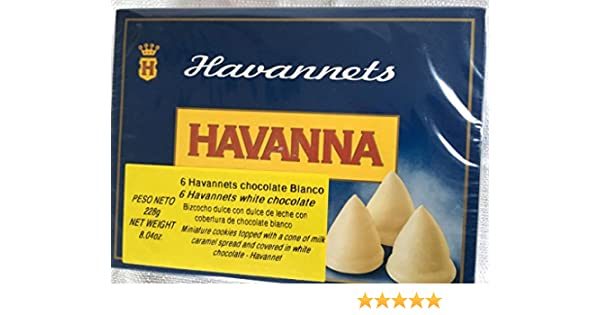 Amazon.com : Havannets Chocolate blanco / White chocolate x 6 : Grocery & Gourmet Food