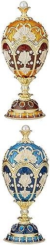 Design Toscano S 2 Amber Constantine Blue NIKOLAIEVICH Enamel Eggs