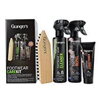 Grangers Footwear Care Kit / Complete Outdoor Footwear Care / Made in England