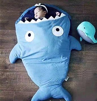 Saco de dormir de bebé tiburón de dibujos, saco de dormir para