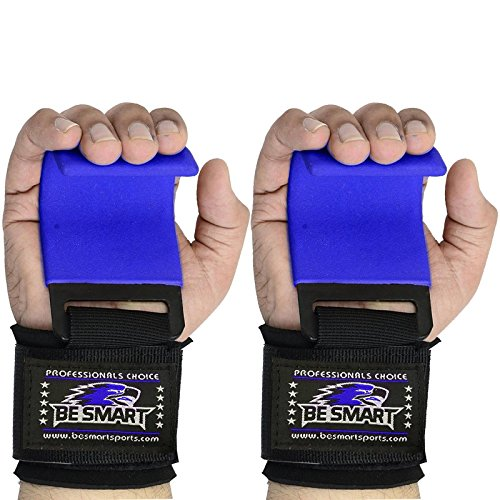 Gym Weight Lifting Hooks Straps Hand Bar Wrist Brace Support Gloves Grip