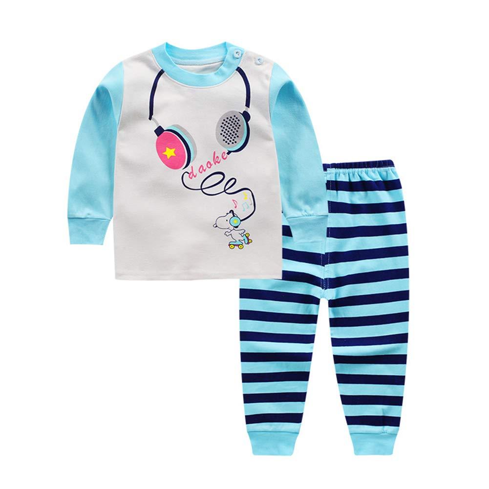 Fairy Baby Newborn Boys Girls 2pcs Clothes Cartoon Shirt Pant Homewear Pajamas Set