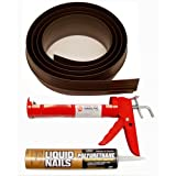 Auto Care Products Inc 52010 10-Feet Tsunami Seal Garage Door Threshold Seal Kit, Brown