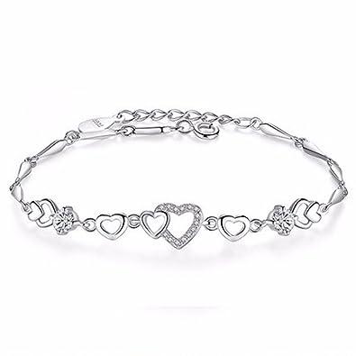 Creative S925 Bijoux En Sterling Dames Argent Diamants Aimaoer Amour dBeWoCxEQr