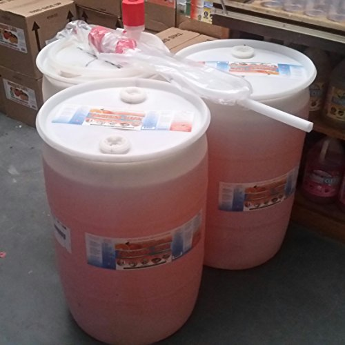 ONLY $20 EACH GALLON (3-55 gallon drums of Tangerine Clean All Purpose Cleaner w/3 hand pumps) Concentrated Engine Degreaser, Shop Cleaner, Kitchens, Appliances, Bathrooms, Carpets & Floors ()