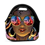 69HUANGAVANEW Glasses Landscape Africa Afro Adults/Men/Women/Kids Bento Boxes Lightweight Lunch Bag Trip School Office Lunchbox Multi-fonction Handbag