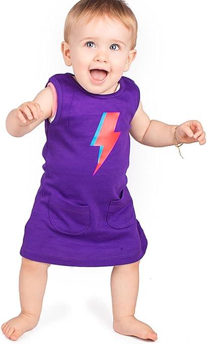 Ziggy Stardust perno Niñas Vestido/Funky infantil y de bebé niñas ...