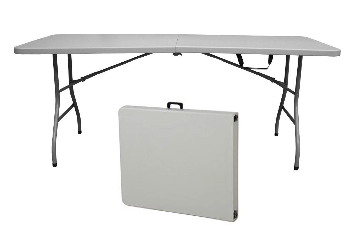 Snap Drape Table in a Snap - 6 Foot 400 lb Capacity Center Folding Table w/ Fitted Cover