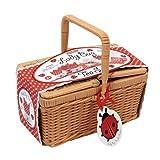 Schylling Ladybug Porcelain Tea Set Basket