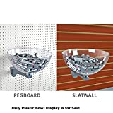 New Retails 10 Inch Clear Plastic Bowl Display for Pegboard Slatwall
