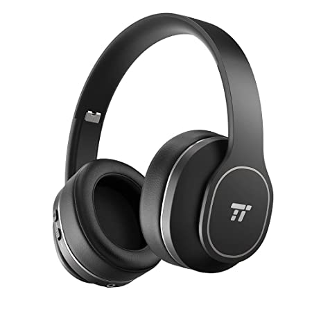 Noise Cancelling Headphones, TaoTronics Wireless Bluetooth Headphones ANC Over Ear Earphones with 24 Hrs Playtime, Foldable Soft Protein Ear Pads, Design for Train or Air Trave, BH047 Upgrade