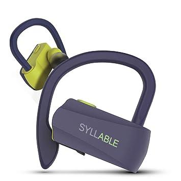 49a66a0a7 Auriculares Bluetooth Deportivos, Syllable D15 Auriculares Inalámbricos Estéreo  para Deportes Bluetooth 5.0 Manos Libres con Micrófono Dual con Ganchos de  ...