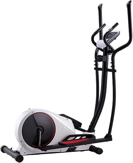 Festnight Magnetischer Crosstrainer mit Pulsmessung Fitnessbike Familientraining 8-stufiger magnetischer Widerstand