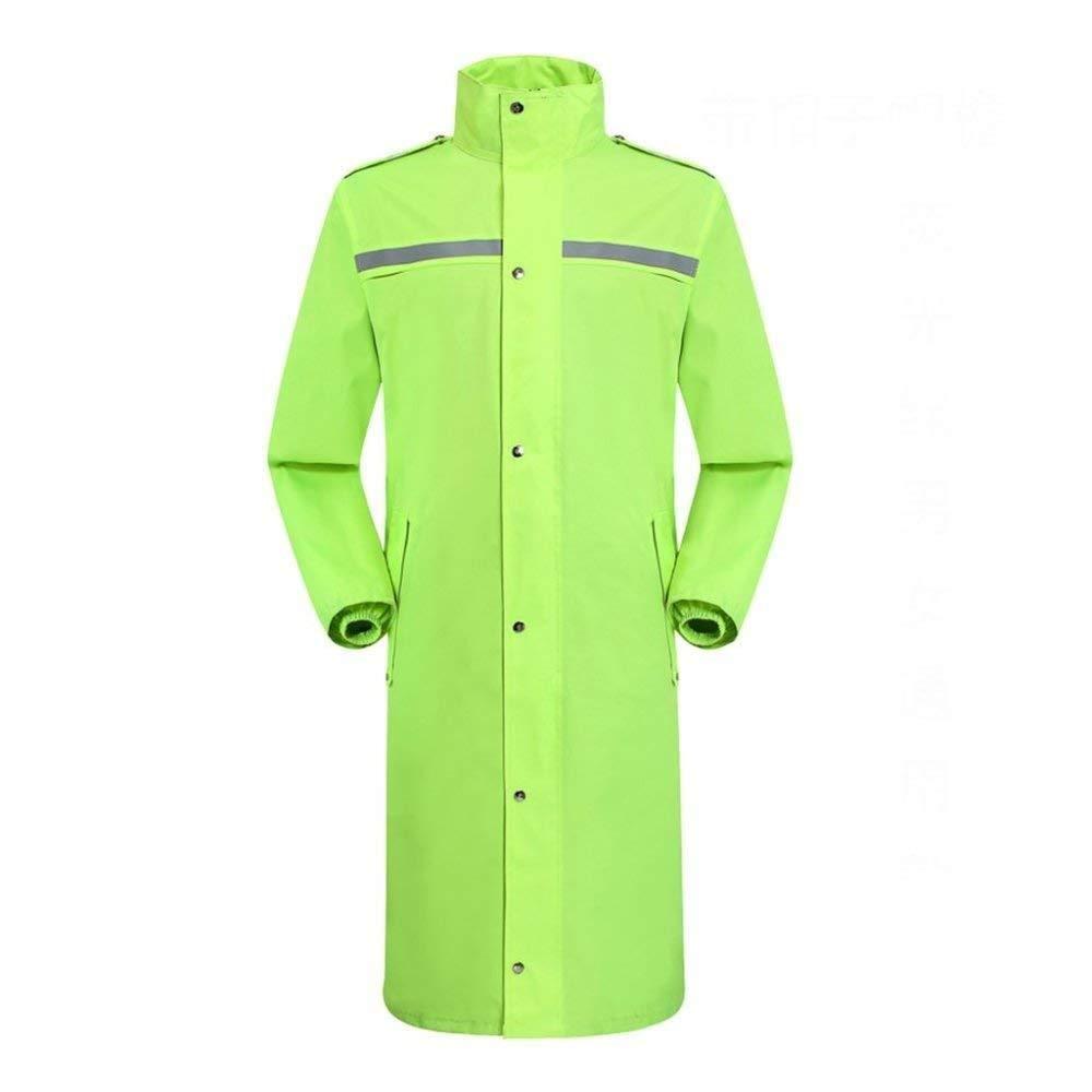 Marron Clair 4XL HONGYU Imperméable pour homme imperméable sur toute la longueur avec capuche vêteHommests de pluie pour adultes Travail avec capuche en plein air