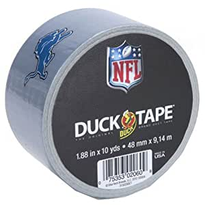 Duck Brand 281549 Detroit Lions NFL Team Logo Duct Tape, 1.88-Inch by 10 Yards, Single Roll