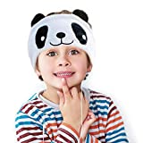 Kids Headphones, Volume Limiting with Ultra Thin Adjustable Speakers Soft Children Fleece Headband...