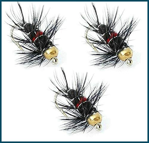 16 x 3 flies for Trout fly fishing also Micro trout flies 12 Trout Flies 20 10 14 Gold Headed BIBIO Flies in sizes 8 18 22 or 24