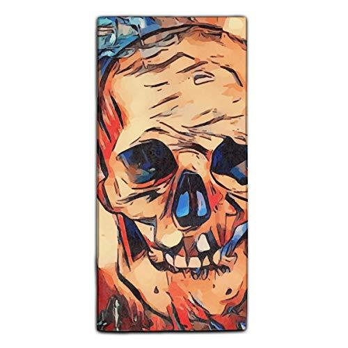 Skull Orange Abstract Halloween Decorative Dish Towels Ideal Tea Towels, Kitchen Dish Towels, or General Purpose Kitchen Towels Machine -