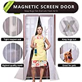"""Hoobest Magnetic Fly Screen Door,Fits Door Openings Up to 34""""x82"""" Max (White)"""