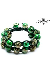Jurassic Double Shamballa Bracelet | Hip Hop Jewelry | Crystal Disco Ball Bangle (By BAGATI CRYSTO)