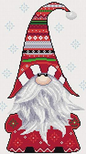 Gnome counted cross stitch kit (Gnomes Cross Stitch Christmas)