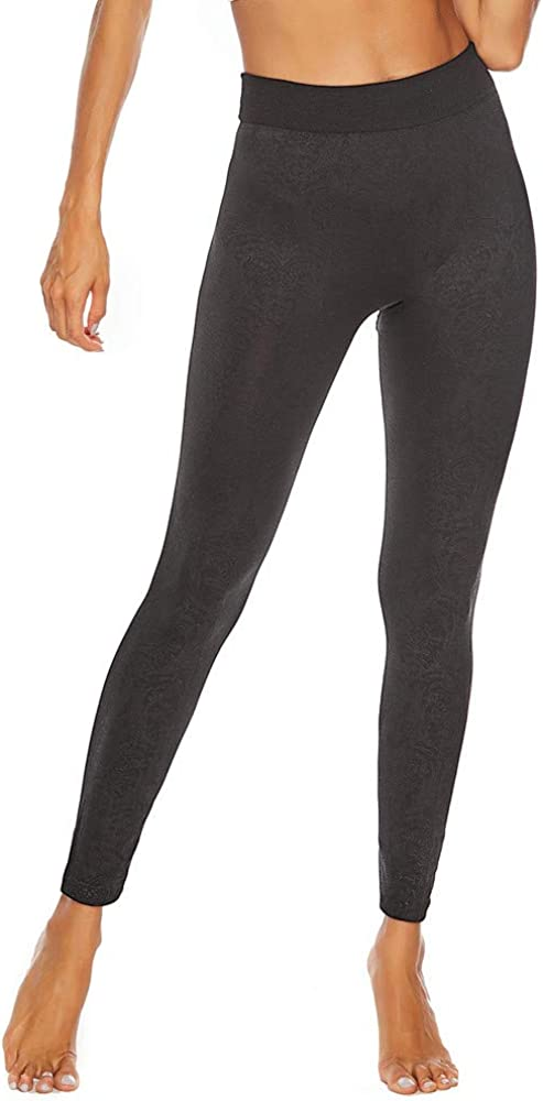 Womens High Waisted Leggings Soft Stretch Tummy Control Printed Opaque Sports Workout Fitness Yoga Pants Transser