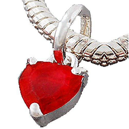 Charm Buddy Red Faceted Crystal Heart Dangle Charm Fits Silver Pandora Style Bracelets