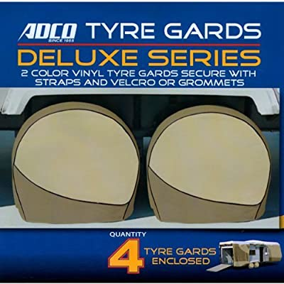 """Adco Deluxe RV Wheel Covers Trailer Wheel Covers Motorhome Wheel Storage Covers for Wheels 40""""-42"""" in Diameter (4 Pack with Storage Case)"""