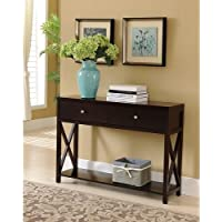 K and B Console Table, Dark Cherry