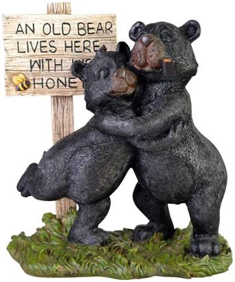 Amazon.com: Cute Bear Couple with Sign: An Old Bear Lives Here with His  Honey, 15-inch: Kitchen & Dining