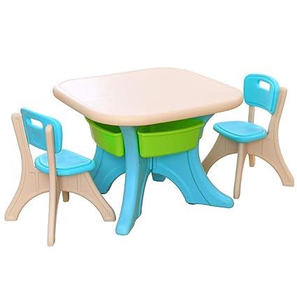 Tavoli E Sedie In Plastica Per Bambini.Wfeng Set Tavolo E Sedie Per Bambini In Plastica Tavolo Da Gioco