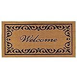 Calloway Mills 102242436 Breaux Welcome Doormat, 24' x 36', Natural/Black