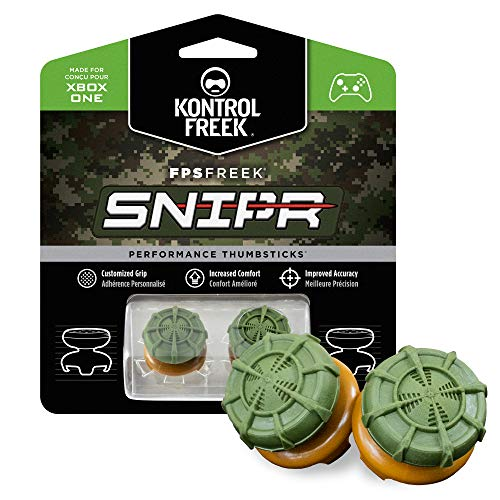 KontrolFreek FPS Freek Snipr for Xbox One and Xbox Series X Controller | Performance Thumbsticks | 2 High-Rise Convex (Domed) | Green