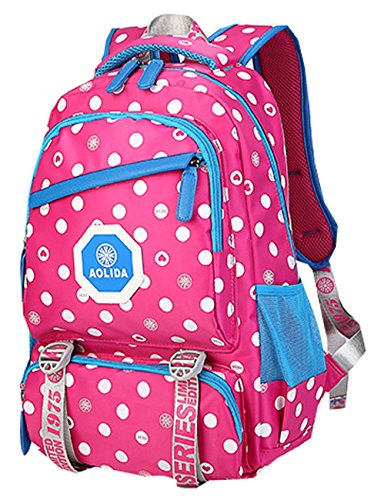 Foverjim Personalized Girls Nylon Double Shoudlers Backpack Can Print Name