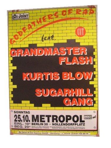 (Grandmaster Flash Kurtis Blow Poster Concert)