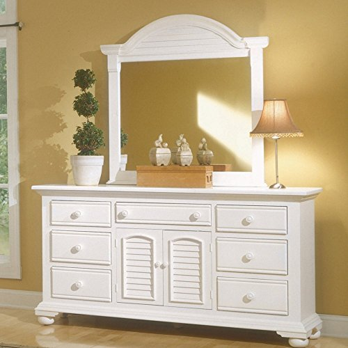 American Woodcrafters Cottage Traditions 7 Drawer Triple Dresser - Eggshell (Cottage Triple Dresser)