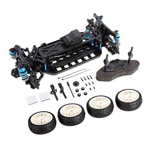 MonkeyJack Aluminium Alloy 1:10 4WD RC Drift Car Frame Chassis Kit for LRP HSP Traxxas