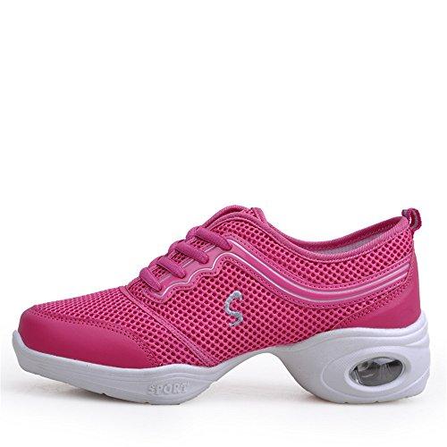 Yuanli Dames Boost Mesh Dance Sneaker Roze