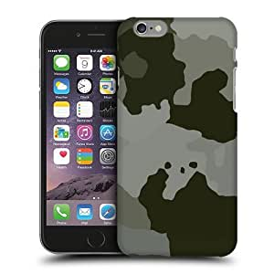 Case Fun Large Grey Camouflage Snap-on Hard Back Case Cover for Apple iPhone 6 Plus (5.5 inch)