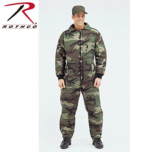 Rothco Insulated Coverall, Woodland Camo, Large