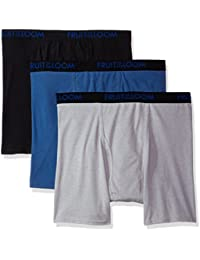 Men's 3-Pack Premium Breathable Cotton Micromesh Big Man Boxer Brf