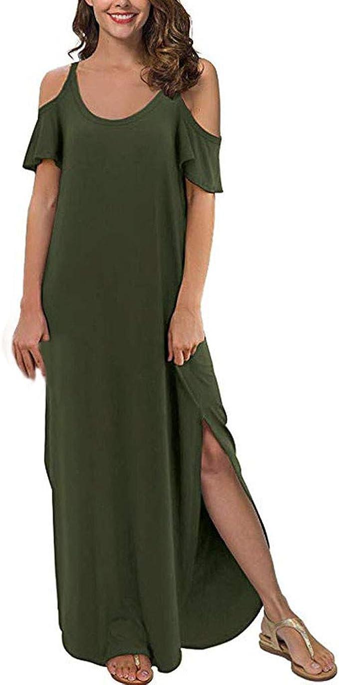 BoyYang Sommerkleider Damen Langes Kleider Große Größen,Frauen