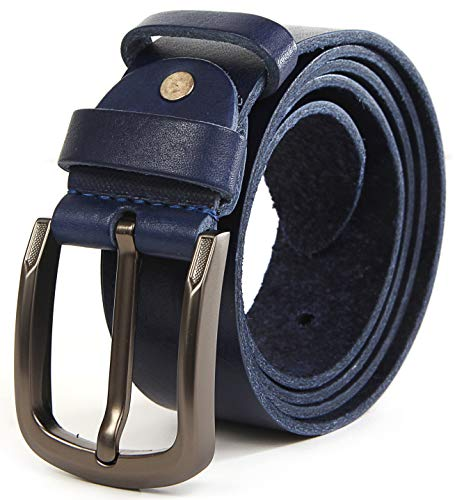 Full Grain Men Solid Leather Belt 8 oz (3mm) Thickness 1.3-1.5