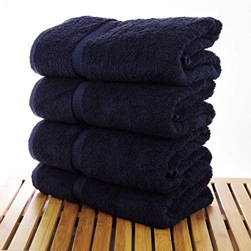 SoulMate Towels - 4 Pack - Ultra Soft Extra Large Bath Towels 26x50 Inches - 100% Pure Ringspun Cotton - Ideal for Daily Use - 500 GSM - Hotel/Spa Quality